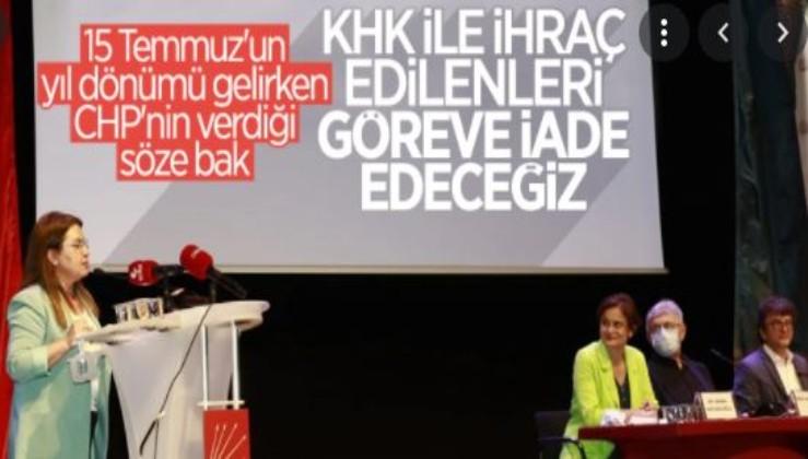 CHP'den FETÖ ve PKK'ya açık söz!