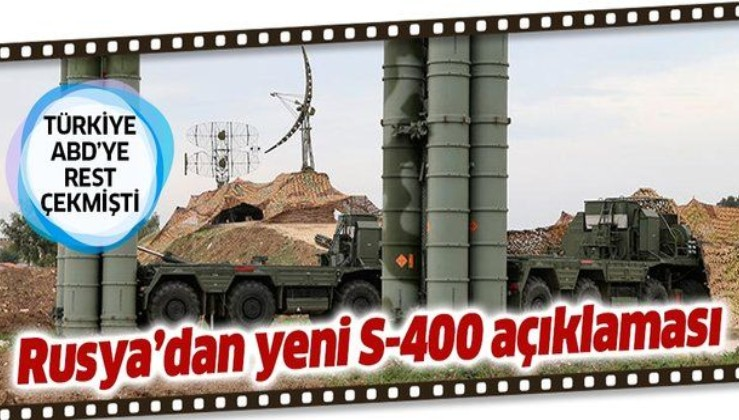 Rus bakandan S-400 açıklaması: Kısa bir süre içerisinde başlayacak.