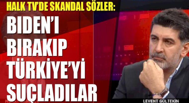 Halk Tv'de skandal sözler: Biden'ı bırakıp Türkiye'yi suçladılar!