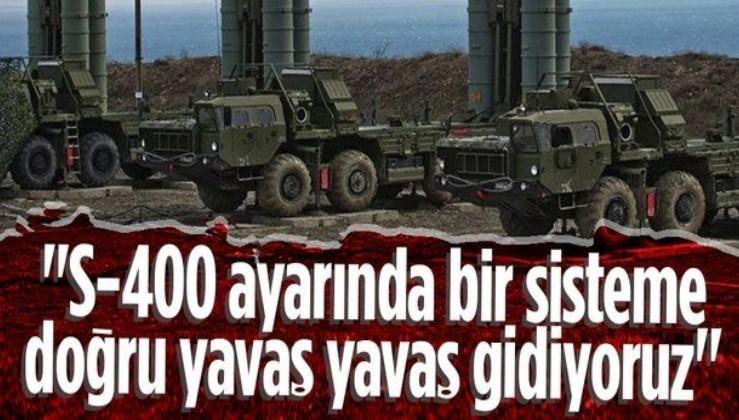 Savunma Sanayii Başkanı İsmail Demir: S-400 ayarında bir sisteme doğru yavaş yavaş gidiyoruz