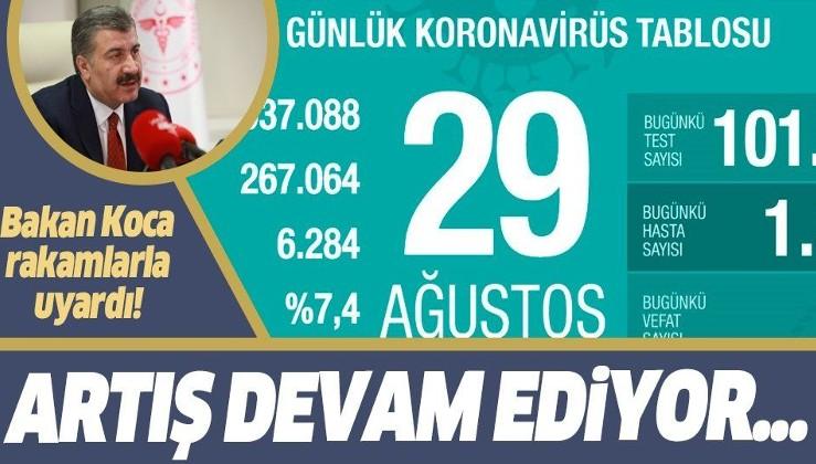 Son dakika: Sağlık Bakanı Fahrettin Koca 29 Ağustos koronavirüs vaka tablosunu paylaştı
