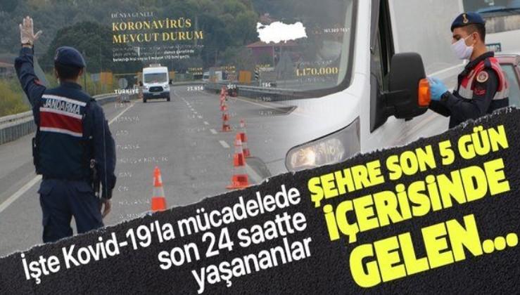 Türkiye'nin Kovid-19'la mücadelesinde son 24 saatte yaşananlar: Şehre son 5 gün içerisinde gelen....