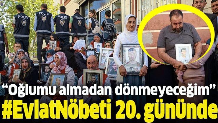 """Diyarbakır'da evlat nöbeti sürüyor! """"Oğlumu almadan dönmeyeceğim""""."""