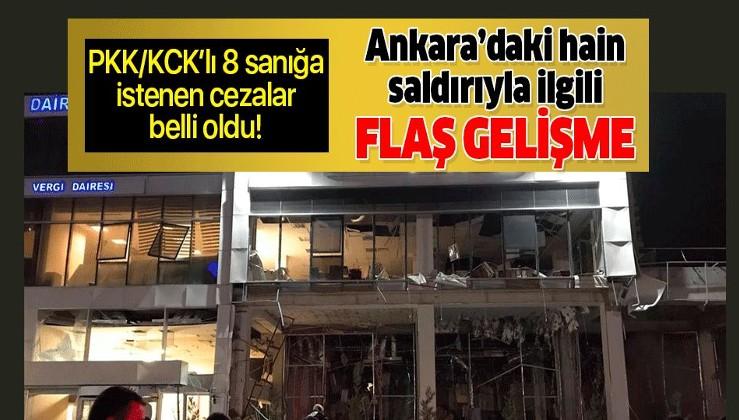 Ankara'daki vergi dairesi önündeki terör saldırısıyla ilgili flaş gelişme.