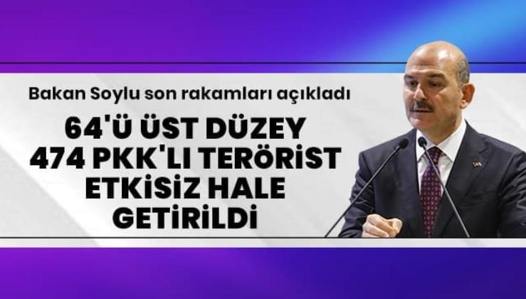 PKK'ya üst düzey darbe! 474 terörist etkisiz hale getirildi