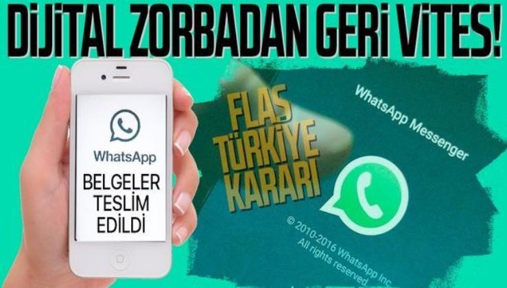 WhatsApp'tan gizlilik sözleşmesiyle ilgili flaş karar! Belgeler teslim edildi: Türkiye'de uygulanmayacak