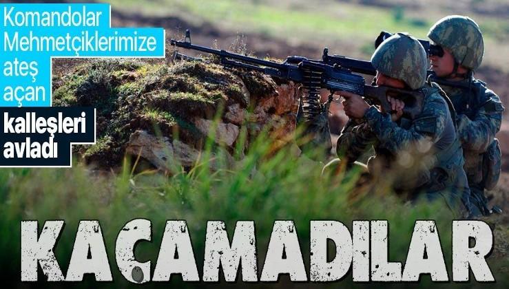 Mehmetçiklerimize makineli tüfekle ateş açan 3 PKK'lı terörist etkisiz hale getirildi