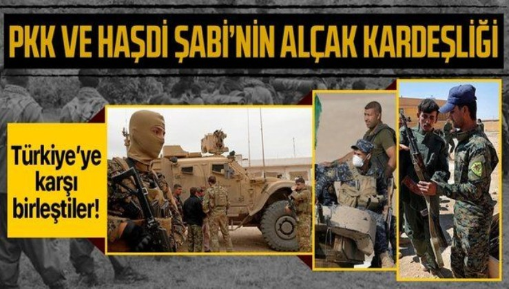 Terör örgütü PKK ve Haşdi Şabi'nin alçak kardeşliği! Türkiye'ye karşı ortak saldırı kararı aldıklarını duyurdular!