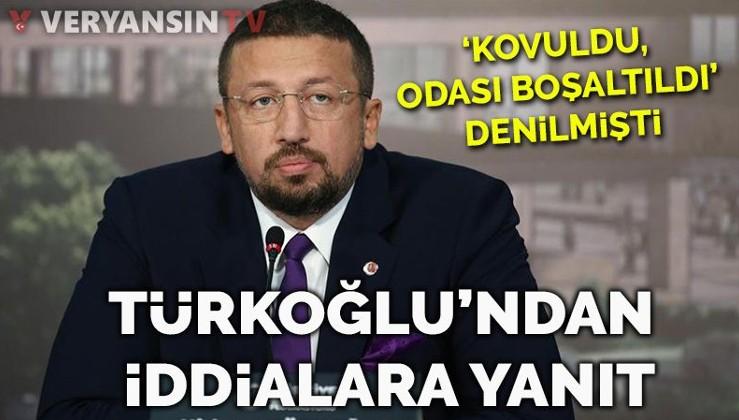 'Görevinden alındı, odası boşaltıldı' denilen Hidayet Türkoğlu'ndan son dakika açıklaması