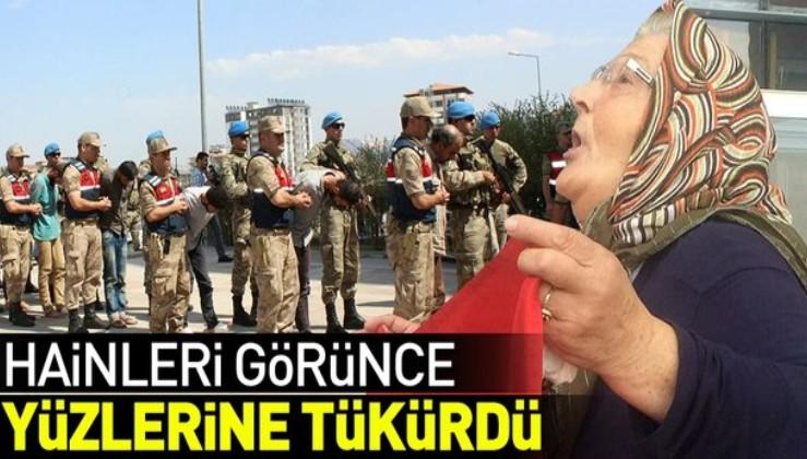 PKK'lı hainleri görünce yüzlerine tükürdü