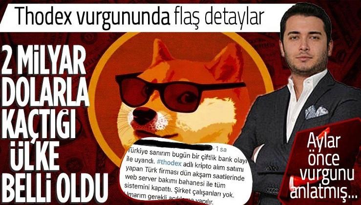 Türkiye Thodex olayını konuşuyor! Faruk Fatih Özer 2 milyar dolarla kayıplara karıştı! Kaçtığı ülke belli oldu