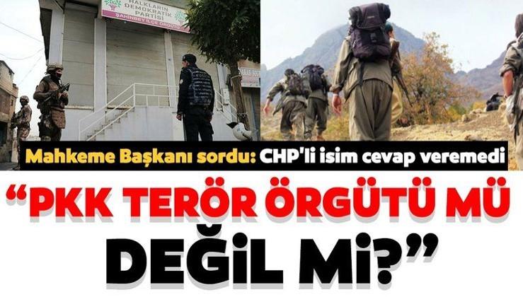 CHP'li meclis üyesi 'PKK silahlı terör örgütü değil mi?' sorusuna cevap veremedi