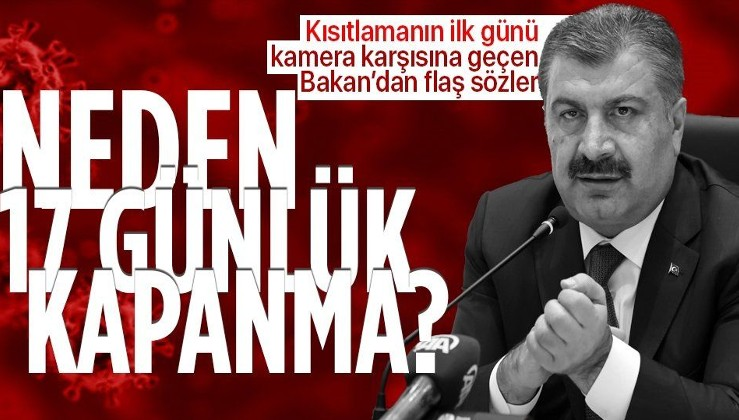 Sağlık Bakanı Fahrettin Koca: İki haftadır uygulanan tedbirler istediğimiz düşüşü sağlayamadı