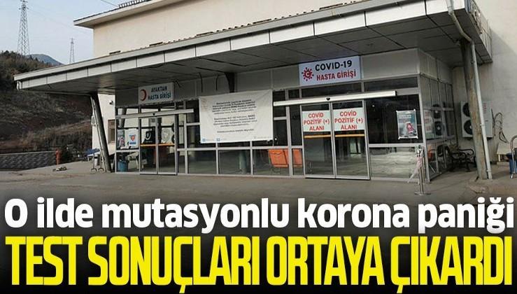 Tunceli'de mutasyonlu koronavirüs paniği! Test sonuçları ortaya çıkardı