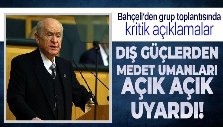 Bahçeli: Tavsiyem CHP'nin Kandil'e değil Anıtkabir'e bakması. Bu gidişle CHP HDP tarafından asimile edilecektir