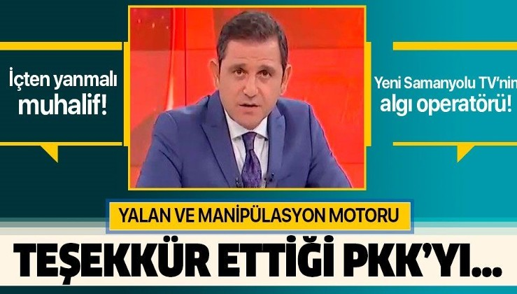 """Fatih Portakal'a sert tepki: """"Bıraksanız teşekkür ettiği PKK'yı...""""."""