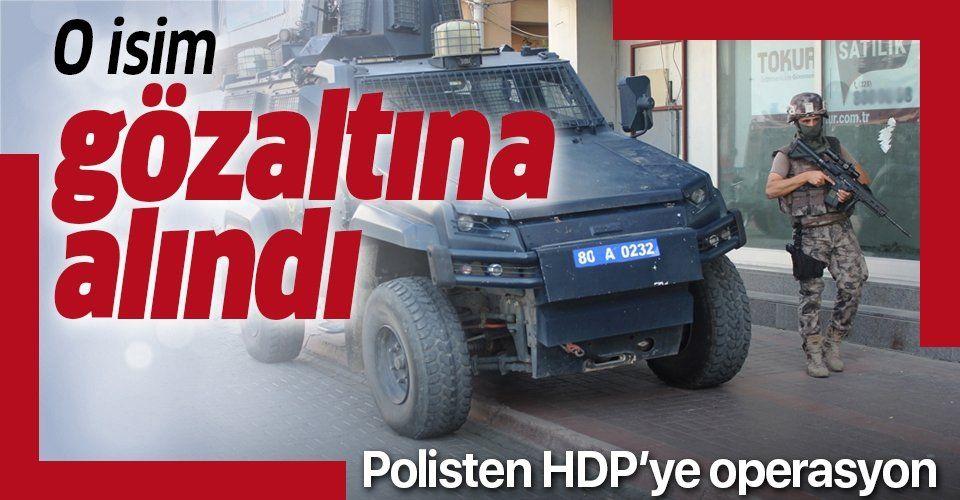 HDP il binasında arama!