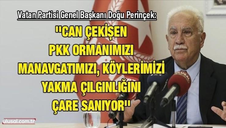 Vatan Partisi Genel Başkanı Doğu Perinçek: ''Can çekişen PKK ormanımızı, Manavgatımızı, köylerimizi yakma çılgınlığını çare sanıyor''