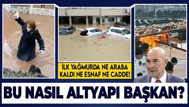 İzmir kabusu yaşıyor: Altyapı eksikliği bütün kenti perişan etti! İşte yağmurun ardından gelen korkunç manzara
