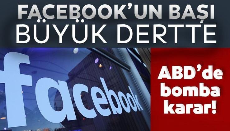 ABD'den Facebook'a şok! 48 eyalet dava açtı hisseler düştü