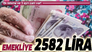 Emekliye 2582 lira