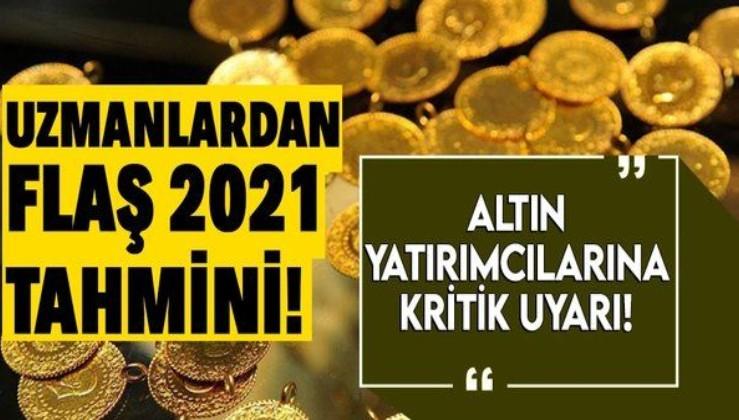 Son dakika: Uzmanlardan flaş 2021 altın tahminleri! Altın fiyatları yükselecek mi? Altın almalı mı satmalı mı?