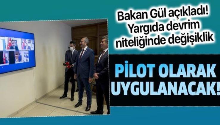 Son dakika: Adalet Bakanı Abdulhamit Gül'den yeni adli yıl açıklaması: 'e-duruşma' uygulanıp yaygınlaştırılacak