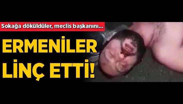 Son dakika... Ermenistan çatırdıyor! Meclis başkanını linç ettiler