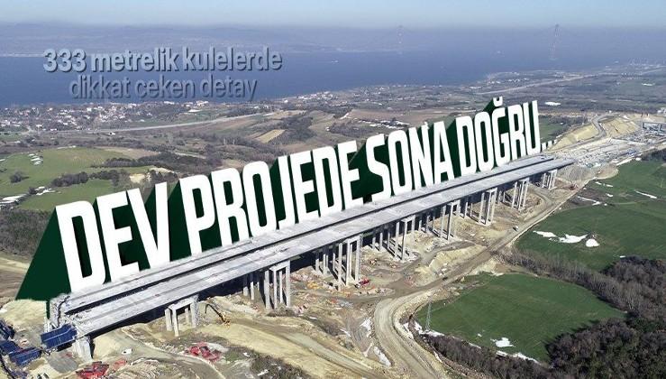 1915 Çanakkale Köprüsü'nde sona doğru! Çalışmalar son sürat devam ediyor | 333 metrelik kulelerde Seyit Onbaşı detayı