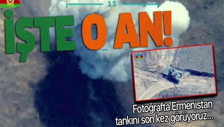 Azerbaycan ordusu Ermeni birliklerini dağıtmaya devam ediyor! 2 tank yok oldu