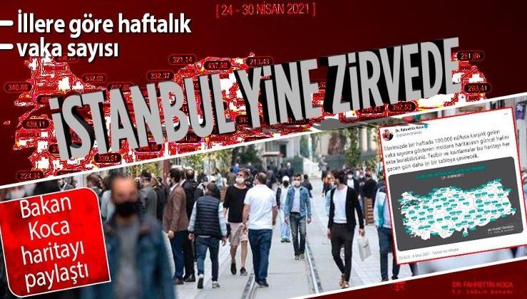 Sağlık Bakanı Fahrettin Koca açıkladı: İşte illere göre son durum