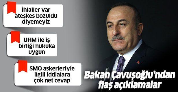 Son dakika: Bakan Çavuşoğlu'ndan SMO askerleriyle ilgili iddialara net cevap: Tamamen gerçek dışı.