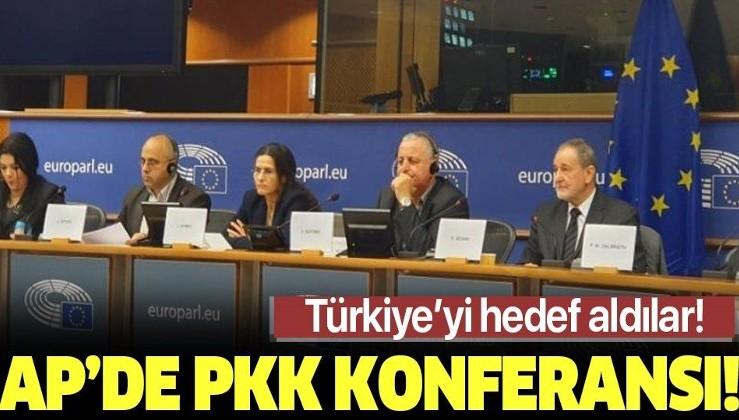 Avrupa Parlamentosu'nda PKK konferansı! Türkiye'yi hedef aldılar.