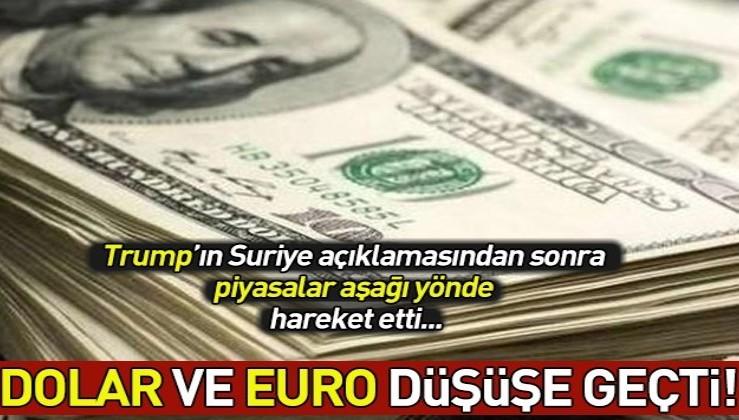 ABD Başkanı Donald Trump'ın açıklamasından sonra Dolar ve Euro düşüyor! Dolar ve Euro ne kadar oldu?.