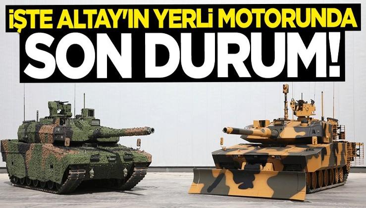 İsmail Demir açıkladı! İşte Altay Tankı'nın yerli motorunda son durum
