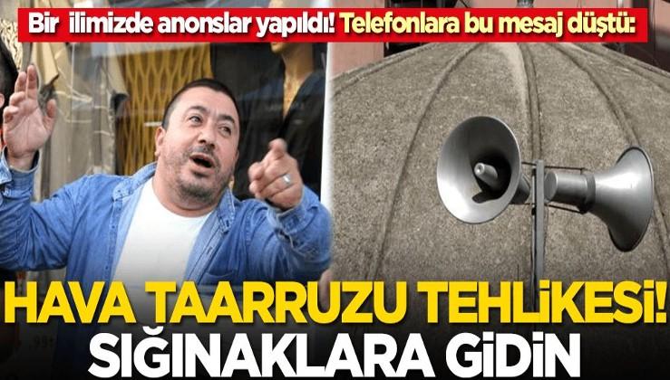 Sinop'ta hava saldırısı alarmı! Telefonlara bu mesaj düştü: Sığınaklara girin