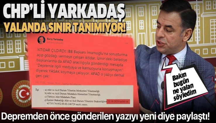 Eski İstanbul Milletvekili Barış Yarkadaş yalanda sınır tanımıyor!