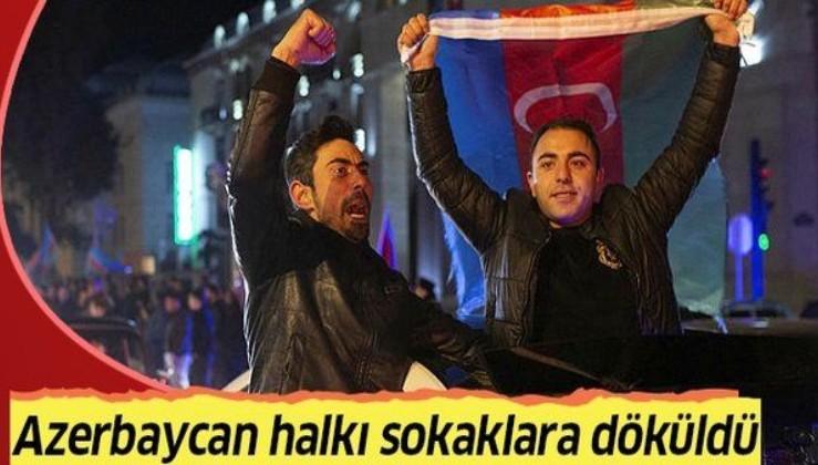 Gardaş'tan zafer kutlaması! Azerbaycan halkı sokaklara döküldü