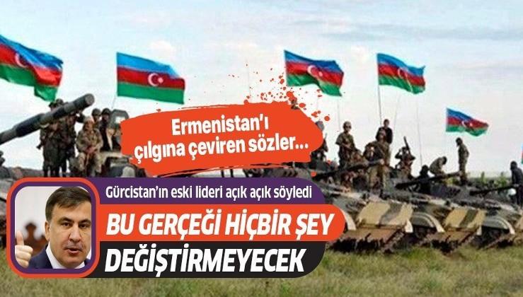Gürcistan eski Cumhurbaşkanı Mihail Saakaşvili'nin Azerbaycan'a destek vermesi Ermenistan'ın zoruna gitti!