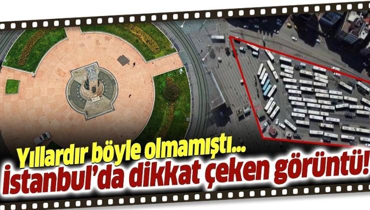 """Son dakika: İstanbul'un en kalabalık yerleri """"korona"""" tedbirlerinden sonra bomboş kaldı!"""