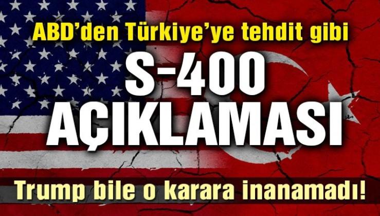 ABD: Türkiye S-400 alırsa 'düşman yasası' uygularız!
