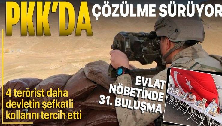 PKK'da çözülme devam ediyor! İçişleri Bakanlığı duyurdu: 4 terörist teslim oldu