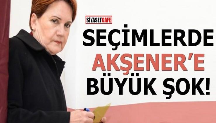 Seçimlerde Akşener'e büyük şok!