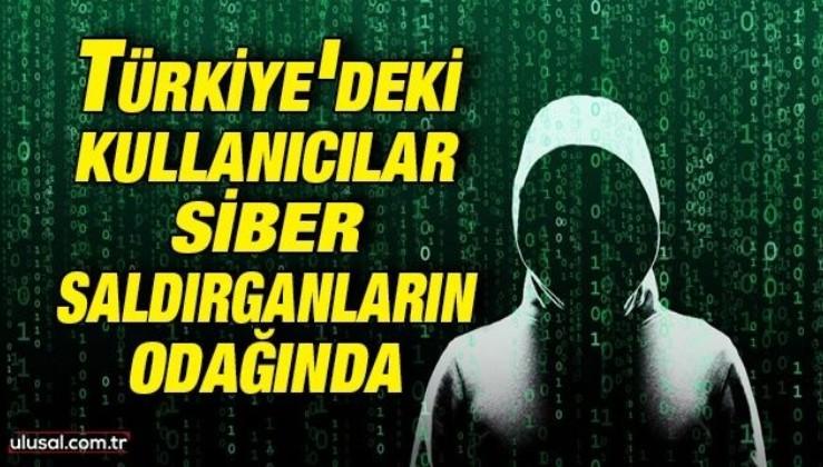Türkiye'deki internet kullanıcıları siber saldırganların odağında