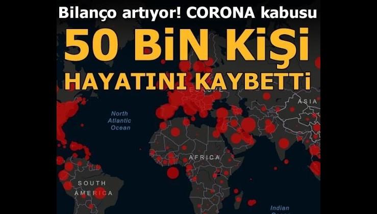 Dünya genelinde corona virüs nedeniyle hayatını kaybedenlerin sayısı 50 bini aştı