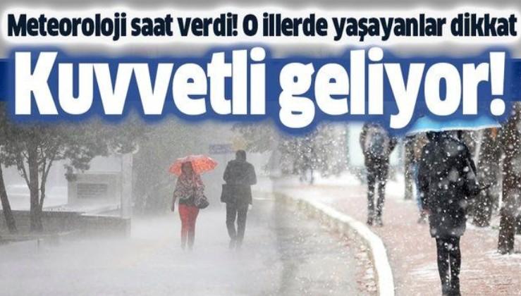 HAVA DURUMU   Meteorolojiden kuvvetli sağanak ve kar uyarısı   16 Aralık İstanbul'da hava nasıl olacak?