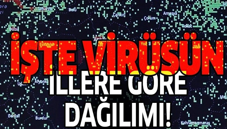İşte Türkiye'de koronavirüsün illere göre dağılımı! İstanbul, İzmir, Ankara ve Konya'da Kovid-19 rakamları...