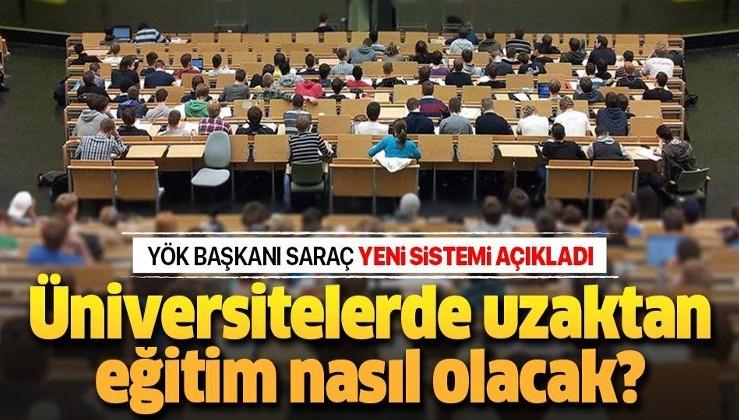 """YÖK Başkanı Yekta Saraç'tan flaş """"uzaktan eğitim"""" açıklaması."""