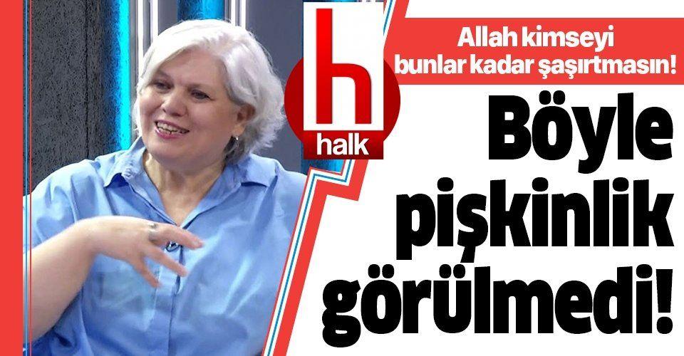 Halk TV'de skandal sözler kullanan Şeyda Taluk'tan pes dedirten hareket!