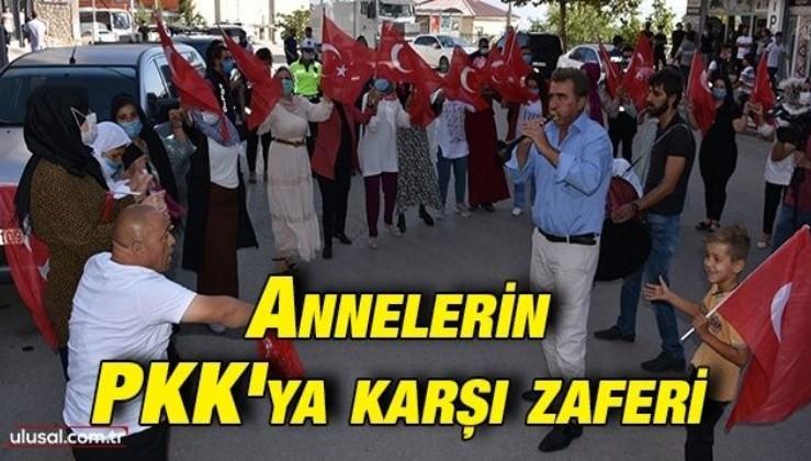 Annelerin PKK'ya karşı zaferi: Şırnak'ta terör örgütünden kaçan Metin Üstek'in gelişini kutladılar